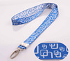 Promotional gift custom woven pretty lanyards with swivel hook