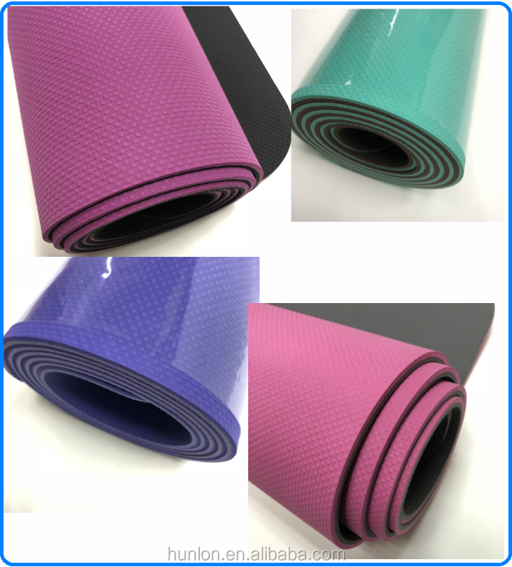 gym mat colorful yoga mat for pilates exercise