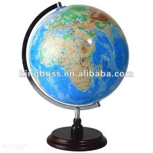 Decoration World Globe With Base Plastic World Map Globe Safety Material