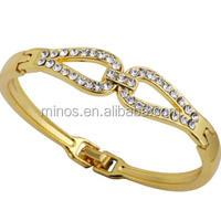 Custom Jewelry Women Gold Plated Crystal