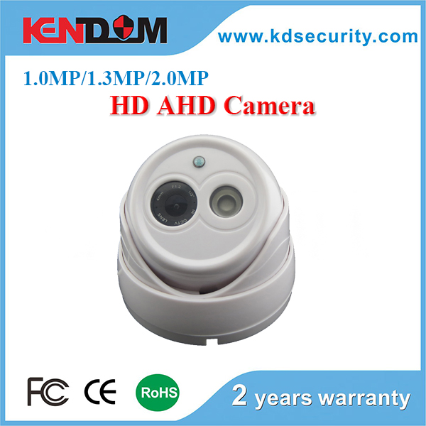 Kendom 1MP/1.3MP/2MP Array IR LED AHD Camera 3.6mm Fixed Lens Indoor Dome Camera with clear Night Vision