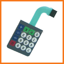 High quality waterproof membrane switch keypads with different colors of LED