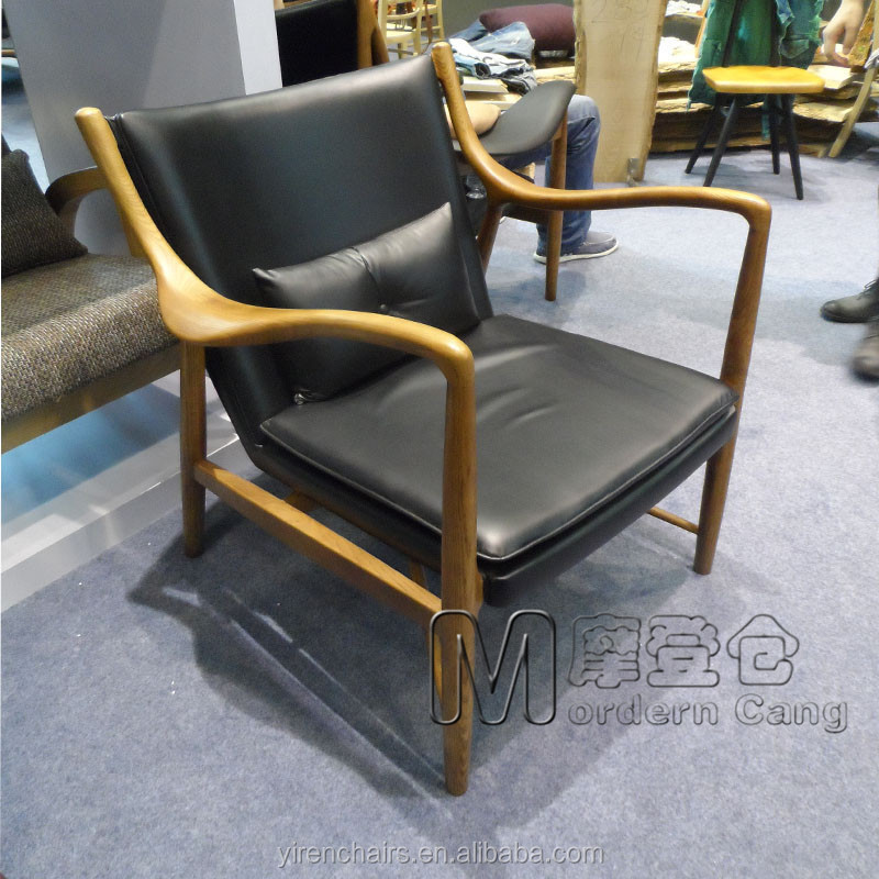 wooden lounge chair leather chair