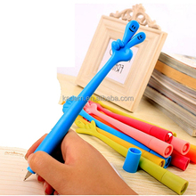 Hot selling new fahion soft cute design rubber flexible gesture finger ballpoint pen for kids