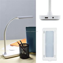 LED Desk Lamp Dimmable with Touch Switch and UL Adapter, White Light 8W LED Table Lamp USB