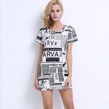 China Suppliers Wholesale Women Latest Fashion Blouse Design Custom Printed T Shirts Dress