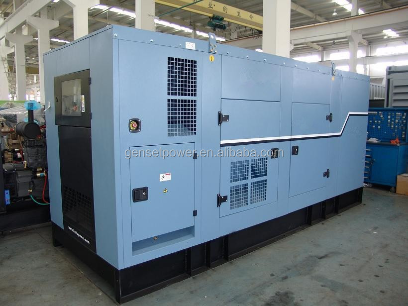 Silent Case Low Noise 600kva Diesel Generator With Perkins Engine