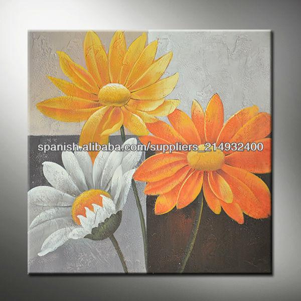 Flor del crisantemo pintura al leo fresca para la - Cuadros para decorar salones ...