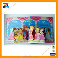3d children book die cutting different shape and story picture