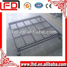 Powder coated corrugated Iron logistic pallet for warehouse system