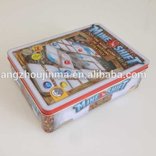 Factory direct sale 235*170*70mm puzzle metal tin box retail