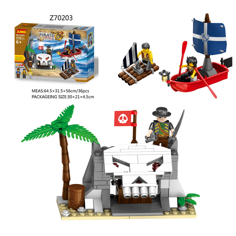 Educational Toys Building Blocks Pirate Wold Series Plastic Magnetic Blocks for Kids