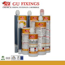 Secure fixing Sika Fast Set Anchoring Adhesive epoxy resin in sleeve chemical hardener