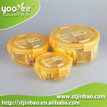Hot Selling Stackable and Nestable Plastic Containers with Clip Lock