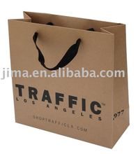 OEM customer advertising shopping brown kraft paper bag