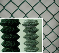 PVC coated galvanized chain link wire mesh fence/diamond fence /sport field fence