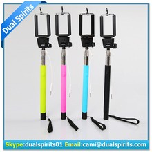 2015 cheap selfie stick with wire,cable take pole selfie stick manufacturers,wired selfie stick supplier