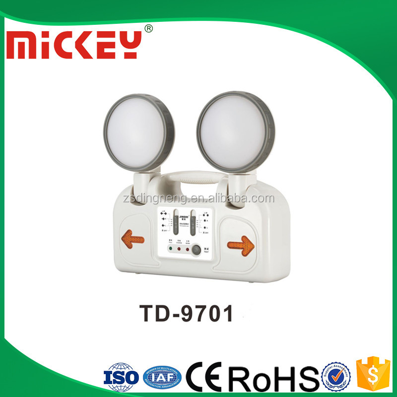 LED Rechargeable Two Heads Emergency light LED Exit Sign Lamp TD-9701