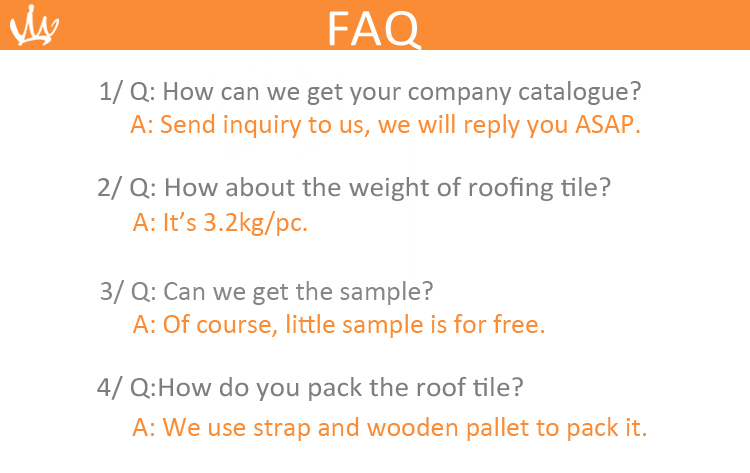 factory price china foshan villa clay roof tile