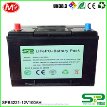 12V 100Ah Lithium battery charger replace lead acid battery for solar energy storage and UPS