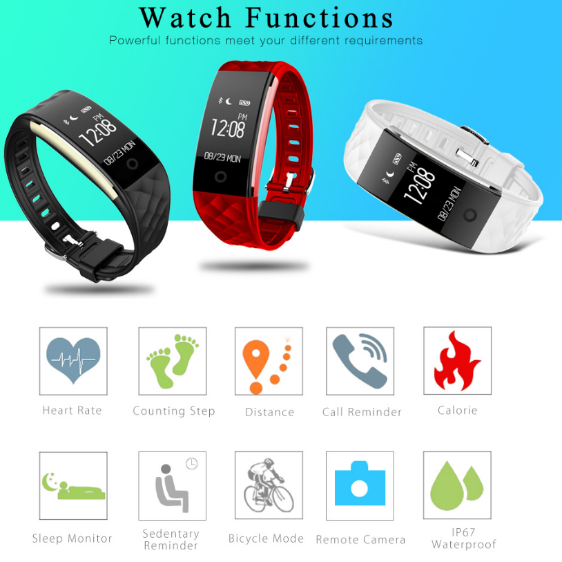 Ce rohs s2 bluetooth smart day day band fitness bracelet