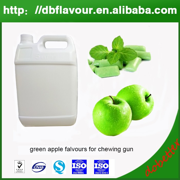Manufactory Provide Green Apple Flavours for Chewing Gun, Water and Oil Soluble Food Grade Flavors