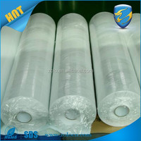 Eggshell Thin material vinyl roll/blank label sticker roll/white vinyl adhesive labels