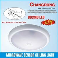 Modern Style Microwave Sensor LED Motion Light Flush Celling Wall Lamp