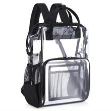 Waterproof Lightweight Clear PVC School <strong>Backpack</strong> with Small Cosmetic Storage Bag