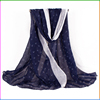 Oblong Anchor Printed Hot Selling Spring Summer Voile Scarf Shawls