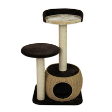Cat climbing scratcher tree,cat tree tower condo,luxury wooden large cat tree