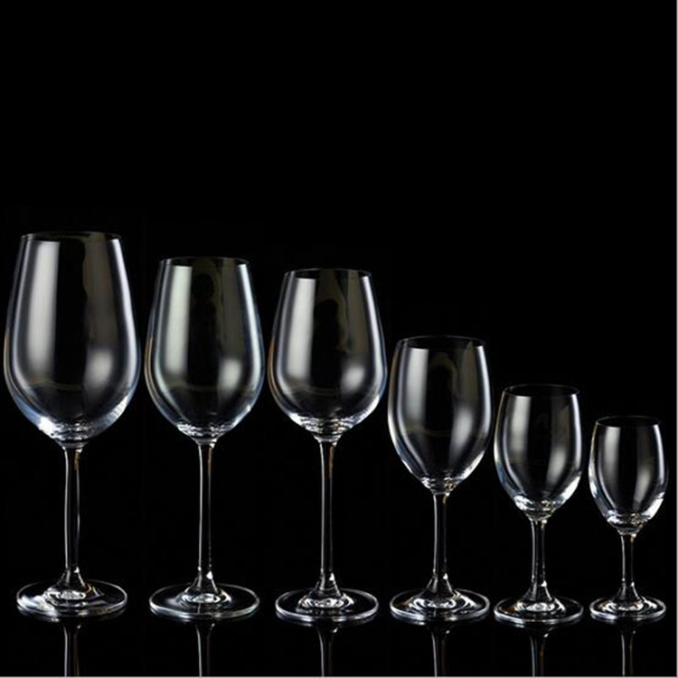 Wholesale Crystal Handmade Clear Stemware red wine Glass, glassware