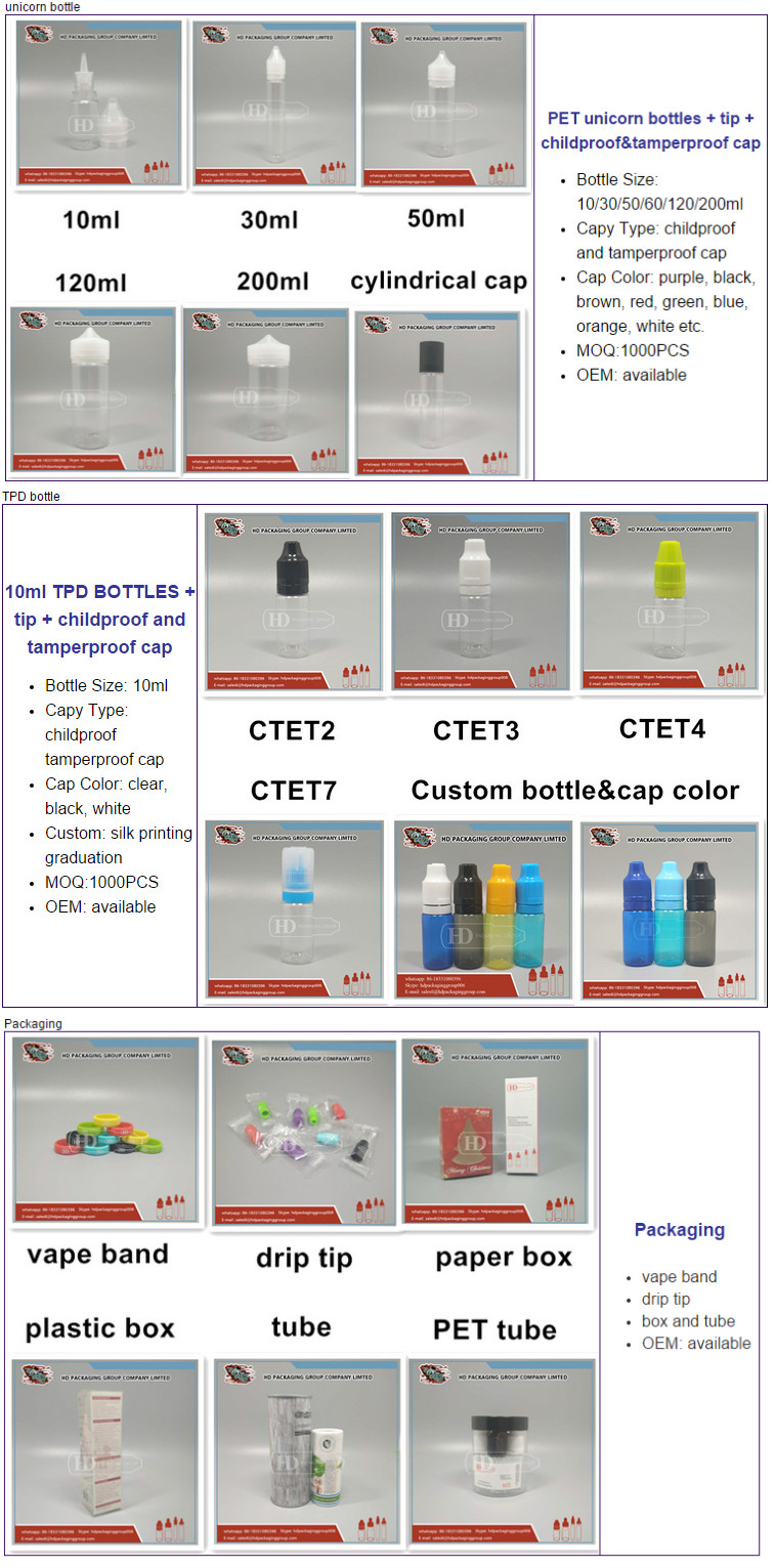 e-liquid pet 60ml squeezable bottles with wide mouth