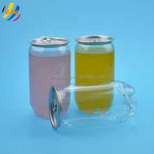 Hot sale plastic transparent soda juice can