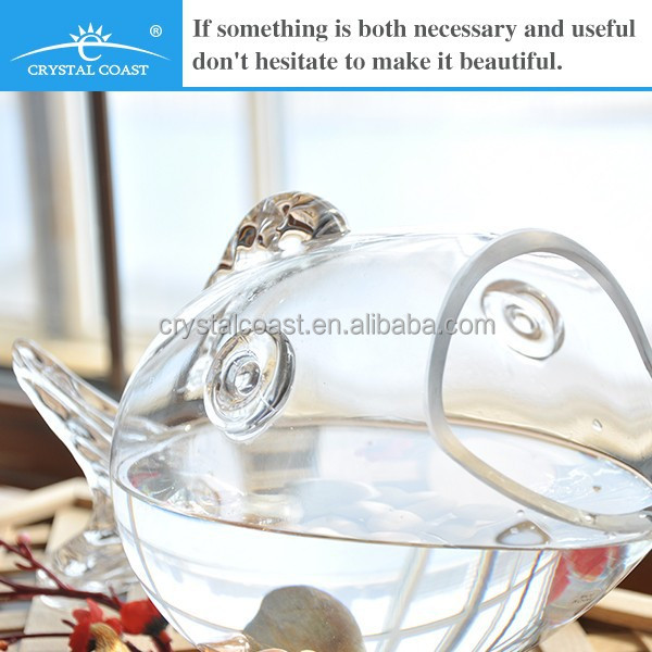 Clear large glass fish shaped bowl buy clear glass fish for Large glass fish bowl