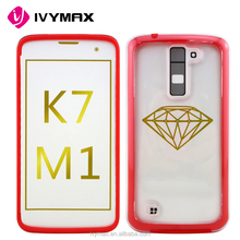 IVYMAX New Detachable Clear TPU Case Red For LG K7 Cell Phone Case