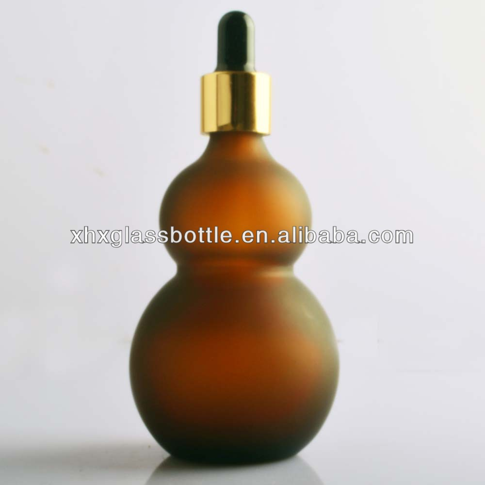 Fancy Design 100Ml Amber Frosted Dropper Glass Bottle For Essential Oil Morroco France Usa