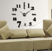Gold/ Silver /black Color Self-adhesive diy sticker wall clock