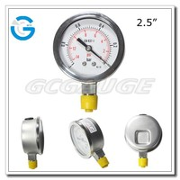 High Quality bourdon tube 2.5inch vacuum test gauge with bottom type