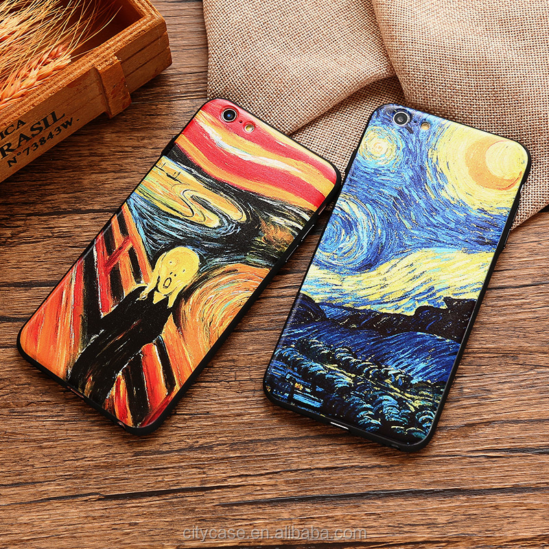 citycase color painting 3d silicone cell phone case for iPhone 6 6s