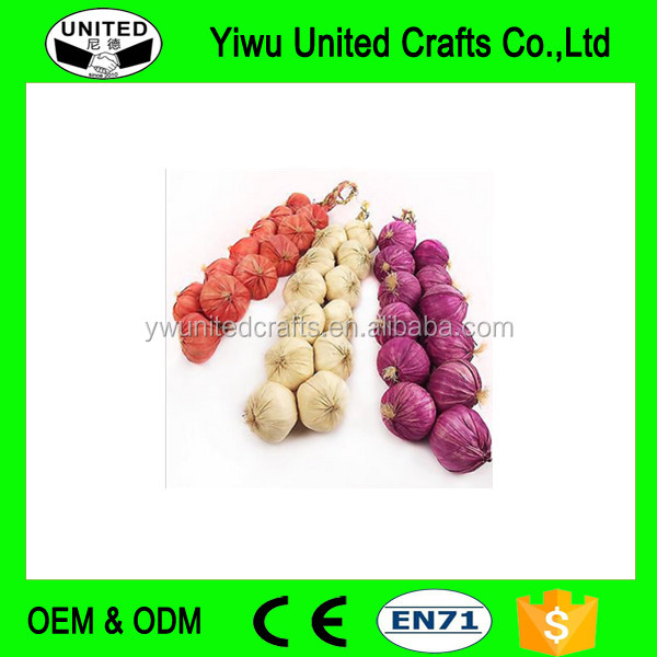 Artificial Onion Garlic Strings! Vegetable Fruit Garland