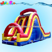 used commercial inflatable water wave double lane slides for sale