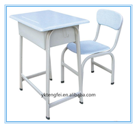 Hot selling school desk and chair, blue Desk And Chair Set, school desk dimension