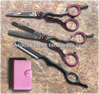 Professional Barber Hair Shears Set, Razor Edge, Sturdy Convex Blades, Size 6""