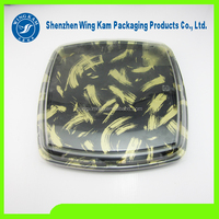 disposable plastic sushi train packaging product for food and sushi rolls