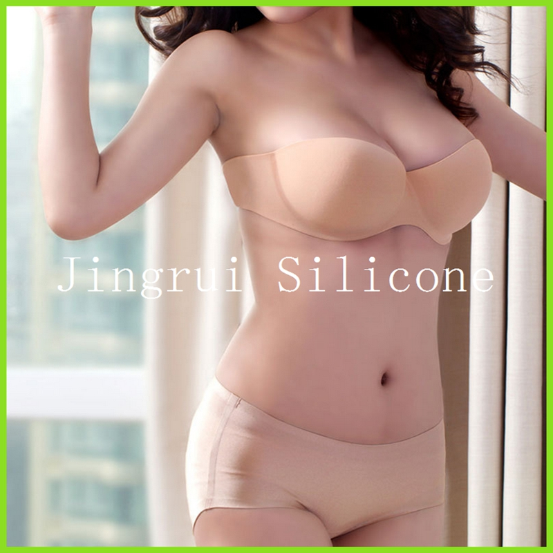 Factory Wholesale Price Strapless Silicone Invisible Bra For Evenning Dress