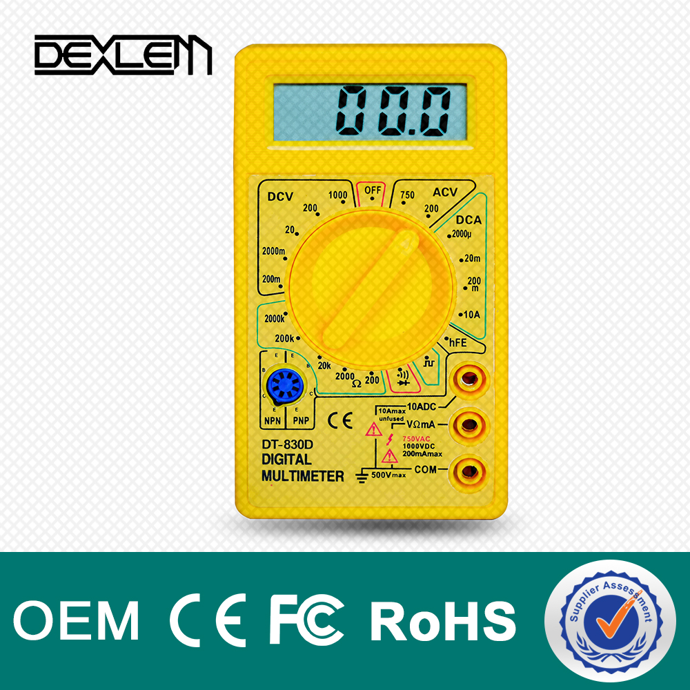 DELE 830D LCD Types Of Low Price mini Pocket digital multimeter