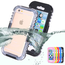 New Water Proof Phone Case Swimming Phone Case For iPhone 6 6S Plus 4.7&5.5 5S SE Water/Dirt/Shock Proof Mobile Phone Case