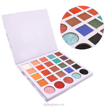 Wholesale Square Eye Shadow 25 Color Cruelty Free Makeup Private Label Cardboard Eyeshadow Palette