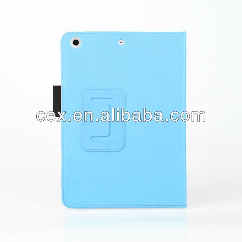 Cloudy Blue 360 Degree Rotating PU Leather Folio Protective Stand Case Cover for Apple iPad Mini